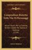 Compendioso Ristretto Delle Vite Di Personaggi: Alcuni Illustri Per La Scienza, Ed Altri Celebri Per Santita E Dottrina (1724)