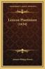 Lexicon Plautinium (1634)