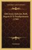 Libri Josue, Judicum, Ruth, Regum IV Et Paralipomenon (1760)