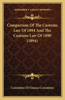 Comparison of the Customs Law of 1894 and the Customs Law of 1890 (1894)