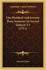 One Hundred and Seventy Three Sermons on Several Subjects V1 (1751)