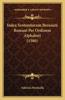 Index Sententiarum Breuiarii Romani Per Ordinem Alphabeti (1580)