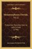 Metamorphoses Dovide, V1-2: Traduction Nouvelle, Avec Le Latin a Cote (1796)