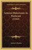 Lexicon Historicum AC Poeticum (1544)