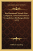 Karl Immanuel Nitzsch, Eine Lichtgestalt Der Neueren Dutsch-Evangelischen Kirchengeschichte (1872)