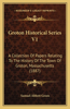 Groton Historical Series V1: A Collection of Papers Relating to the History of the Town of Groton, Massachusetts (1887)