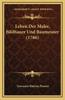 Leben Der Maler, Bildhauer Und Baumeister (1786)