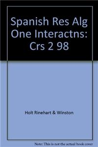 Spanish Res Alg One Interactns: Crs 2 98