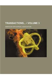 Transactions (Volume 3)