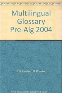Multilingual Glossary Pre-Alg 2004