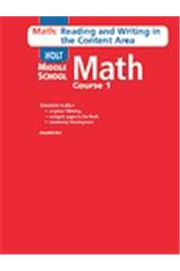 Holt Mathematics: Math Reading and Writing Course 1