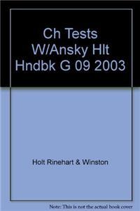 Ch Tests W/Ansky Hlt Hndbk G 09 2003