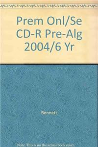 Prem Onl/Se CD-R Pre-Alg 2004/6 Yr