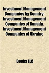 Investment Management Companies by Country: Investment Management Companies of Canada, Investment Management Companies of Ukraine