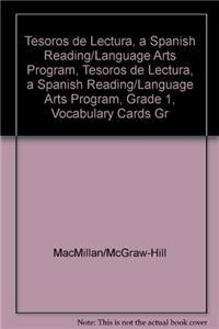 Tesoros de Lectura, a Spanish Reading/Language Arts Program, Grade 1, Vocabulary Cards