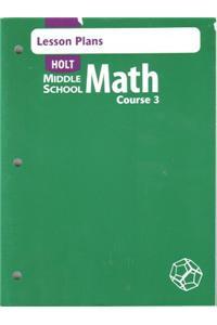 Lesson Plans MS Math 2004 Crs 3