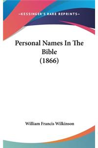 Personal Names in the Bible (1866)