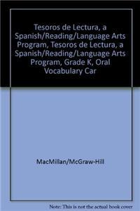 Tesoros de Lectura, a Spanish Reading/Language Arts Program, Grade K, Oral Vocabulary Cards (K-3)
