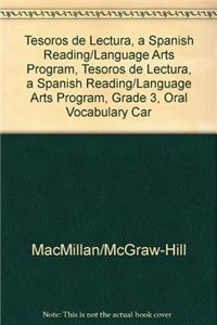Tesoros de Lectura, a Spanish Reading/Language Arts Program, Grade 3, Oral Vocabulary Cards