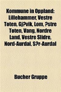 Kommune in Oppland: Lillehammer, Vestre Toten, Gjovik, Lom, Ostre Toten, Vang, Nordre Land, Vestre Slidre, Nord-Aurdal, Sor-Aurdal