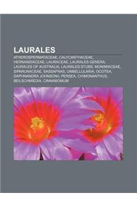 Laurales: Atherospermataceae, Calycanthaceae, Hernandiaceae, Lauraceae, Laurales Genera, Laurales of Australia, Laurales Stubs,