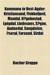 Kommune in Vest-Agder: Kristiansand, Flekkefjord, Mandal, Haegebostad, Lyngdal, Lindesnes, Sogne, Audnedal, Songdalen, Aseral, Farsund, Sirda