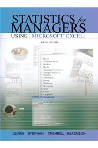 Statistics for Managers Using Excel and Student CD Package Value Pack (Includes Transition Guide to Microsoft Office 2007 & Phit Tips