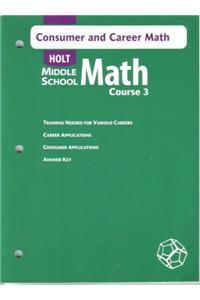 Consumer/Career Math MS Math 2004 Crs 3