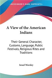 A View of the American Indians