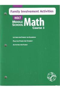 Holt Mathematics: Family Involvement Activities Course 3