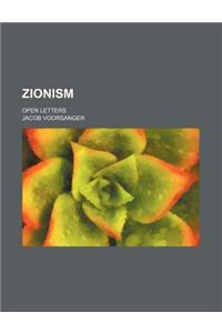 Zionism; Open Letters