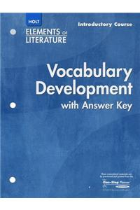 Elements of Literature: Vocabulary Development Introductory Course