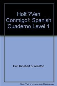 Â¡ven Conmigo!: Cuaderno Para Hispanohablantes Level 1