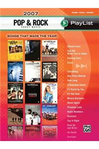 Pop & Rock Sheet Music Playlist 2007