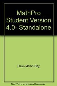 Supplement: Mathpro Student Version 4.0- Standalone - Prealgebra 4/E