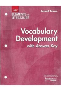 Elements of Literature: Vocabulary Development Eolit 2005 G 8 Second Course
