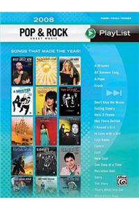 Pop & Rock Sheet Music Playlist 2008