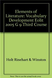 Elements of Literature: Vocabulary Development Third Course
