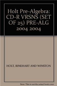 CD-R Vrsns (Set of 25) Pre-Alg 2004