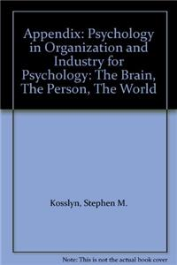 Psychology in Organization and Industry for Psychology