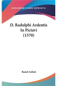 D. Radulphi Ardentis in Pictavi (1570)