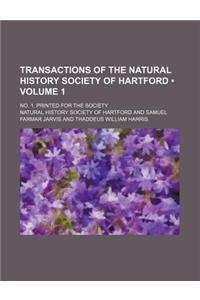 Transactions of the Natural History Society of Hartford (Volume 1); No. 1. Printed for the Society