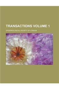Transactions Volume 1