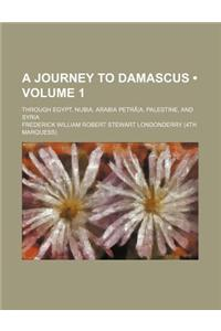 A Journey to Damascus (Volume 1); Through Egypt, Nubia, Arabia Petra A, Palestine, and Syria