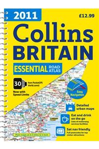 Collins 2011 Essential Road Atlas Britain