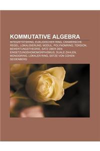 Kommutative Algebra: Integritatsring, Euklidischer Ring, Cramersche Regel, Lokalisierung, Modul, Polynomring, Torsion, Bewertungstheorie