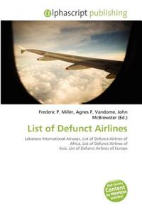List of Defunct Airlines