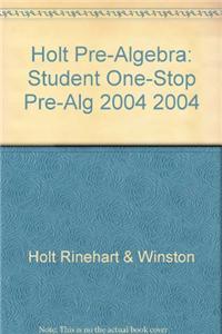 Holt Pre-Algebra: One-Stop CD 2004