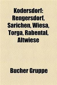Kodersdorf: Rengersdorf, Sarichen, Wiesa, Torga, Rabental, Altwiese