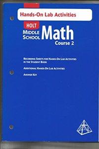 Holt Mathematics: Hands on Lab Activities Course 2